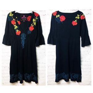 Johnny Was JWLA Rose Embroidered Tunic Dress